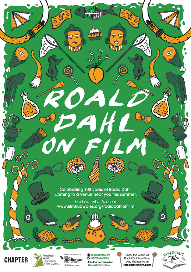 Roald Dahl on Film A3 poster